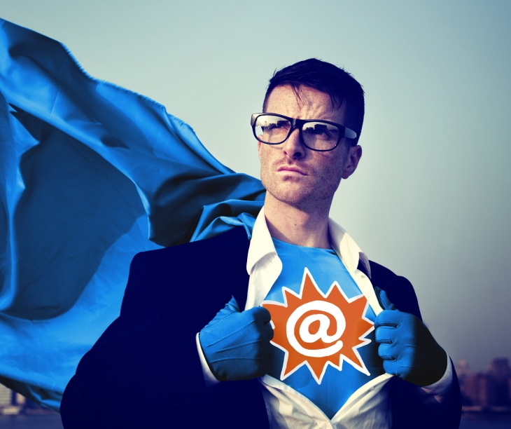 Address Strong Superhero Success Professional Empowerment Stock